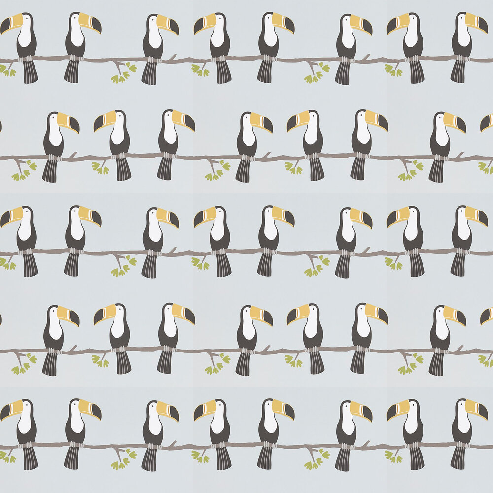 Terry Toucan Wallpaper - Tangerine, Charcoal and Maize - by Scion