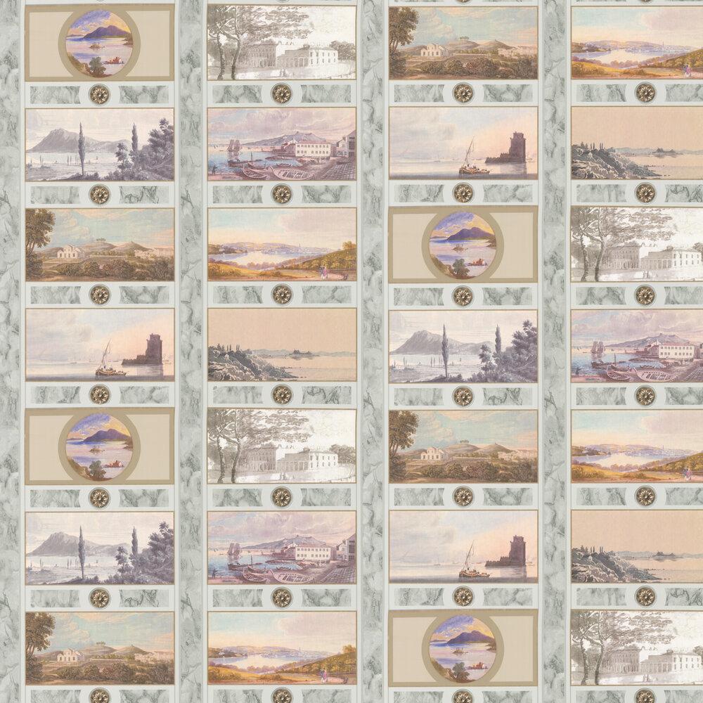 Keightly Folio Wallpaper - Multi / Grey - by Nina Campbell