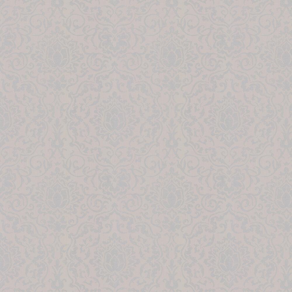 Belem Wallpaper - Grey / Silver - by Nina Campbell