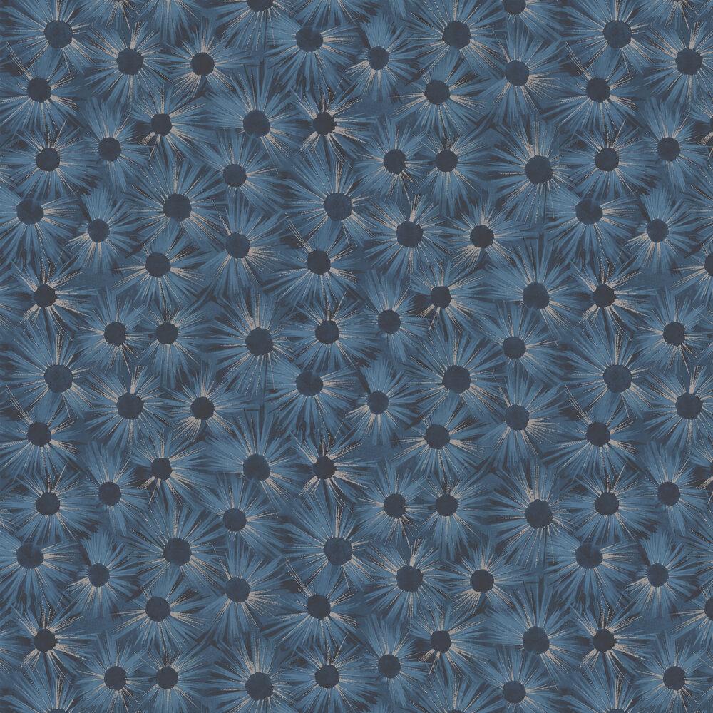 Estella Wallpaper - Midnight Blue - by Nina Campbell