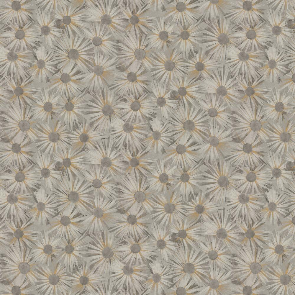 Estella Wallpaper - Grey / Gold - by Nina Campbell