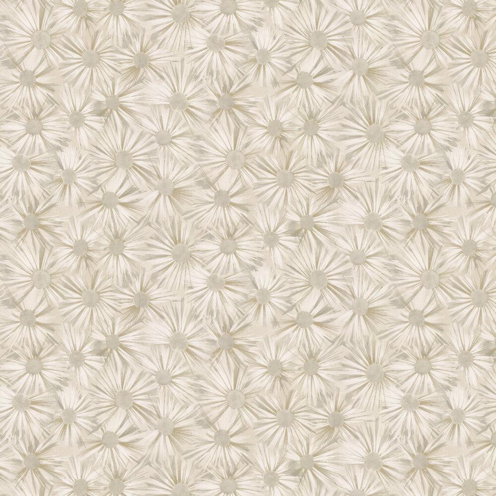 Estella Wallpaper - Ivory / Gilver - by Nina Campbell