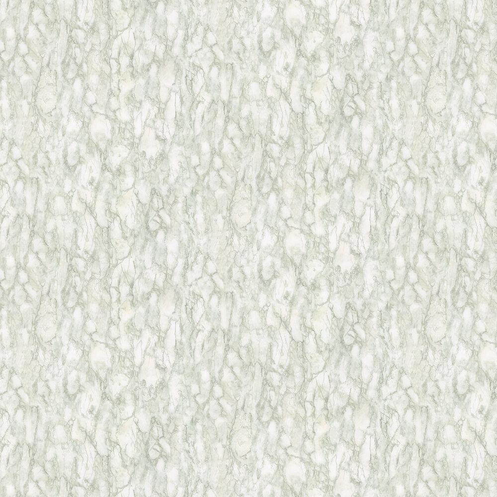 Kershaw Plain Wallpaper - Aqua / Ivory - by Nina Campbell