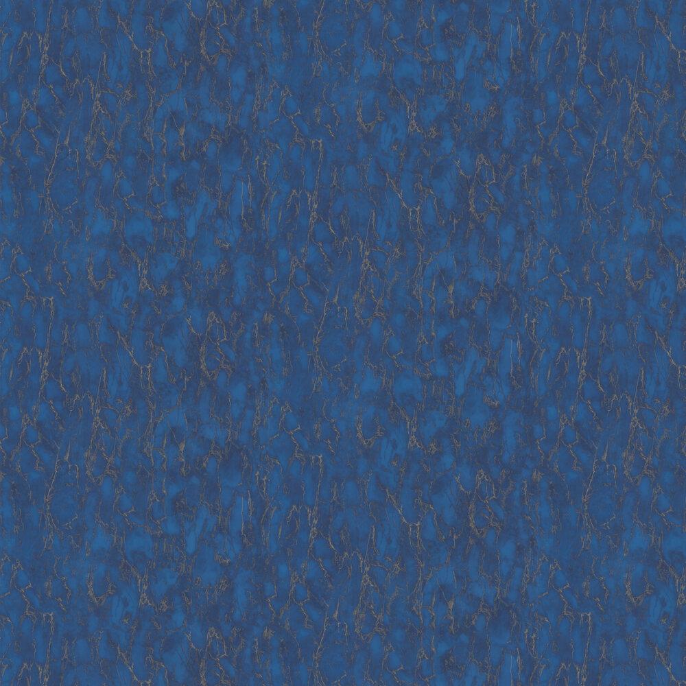 Kershaw Plain Wallpaper - Lapis Blue - by Nina Campbell
