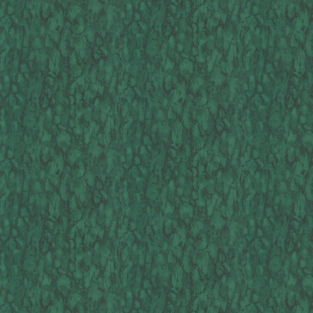 Kershaw Plain Wallpaper - Malachite / Green - by Nina Campbell