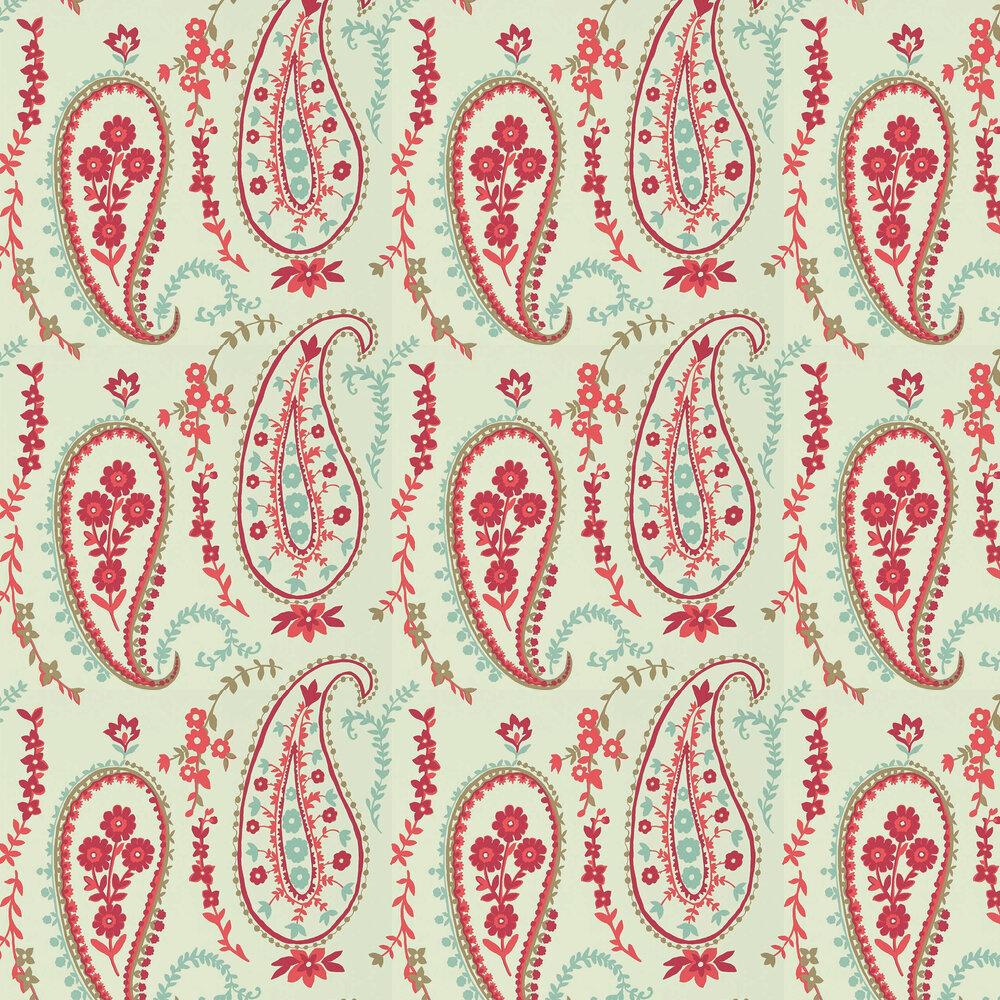 Sanderson Jamila Coral / Aqua Wallpaper - Product code: 215434