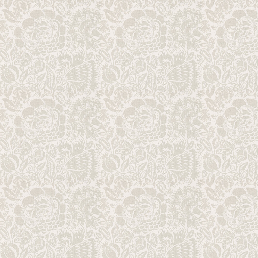 Sanderson Poppy Damask Silver / Chalk Wallpaper - Product code: 215428