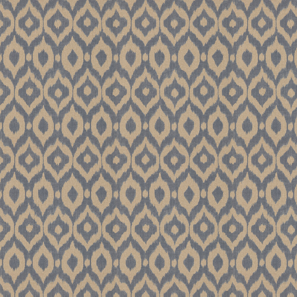 Sanderson Surin Indigo / Canvas Wallpaper - Product code: 215445