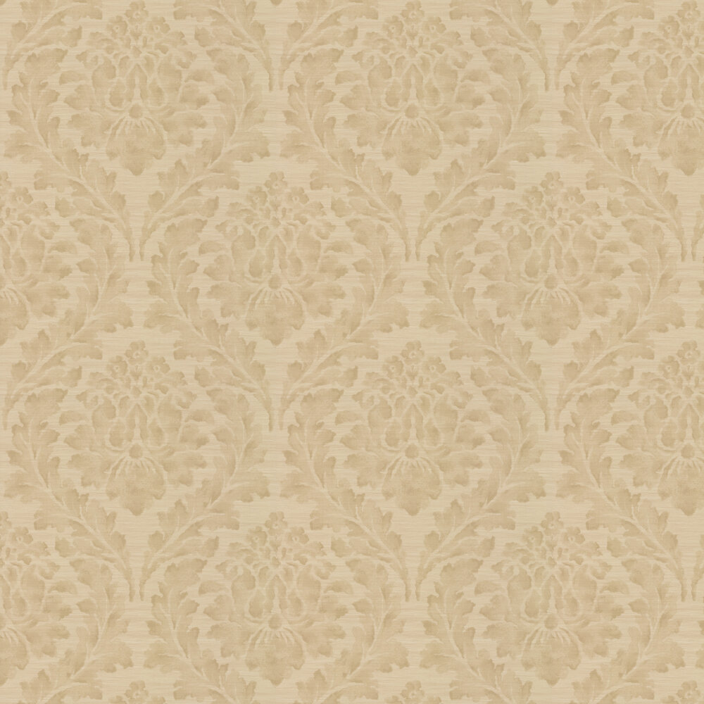 Larkhall Wallpaper - Beige - by Colefax and Fowler