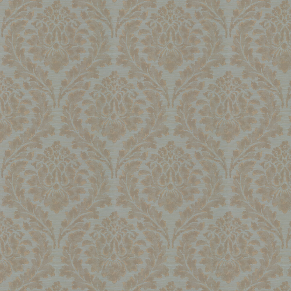 Larkhall Wallpaper - Teal - by Colefax and Fowler