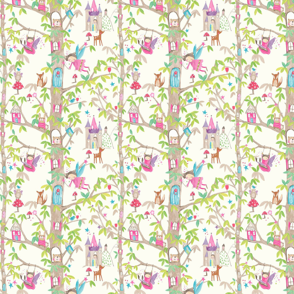 Arthouse Woodland Fairies White Wallpaper - Product code: 667001