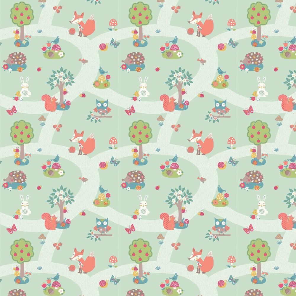 Arthouse Forest Friends Mint Wallpaper - Product code: 667200