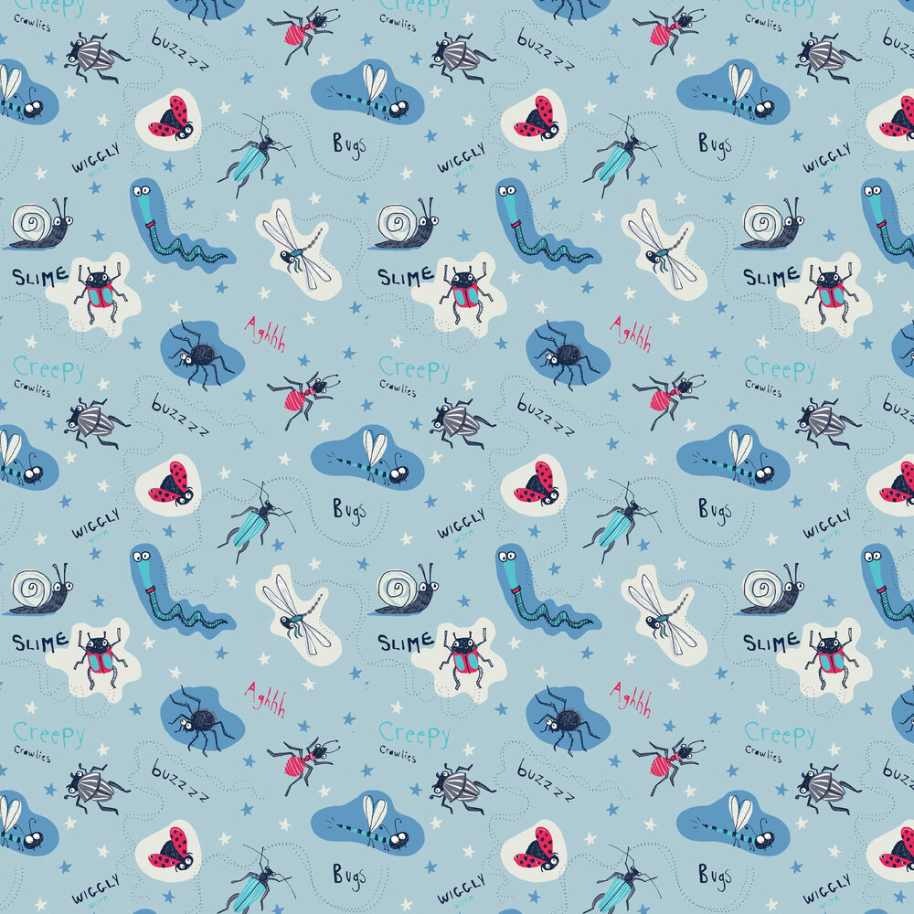 Arthouse Don't Bug Me Blue Wallpaper - Product code: 667600