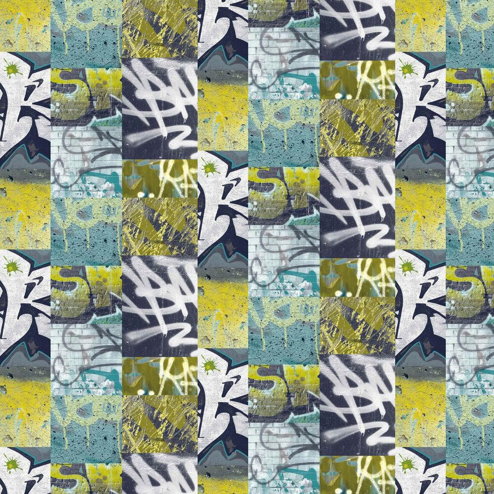 Arthouse Graffiti Lime Wallpaper - Product code: 668300