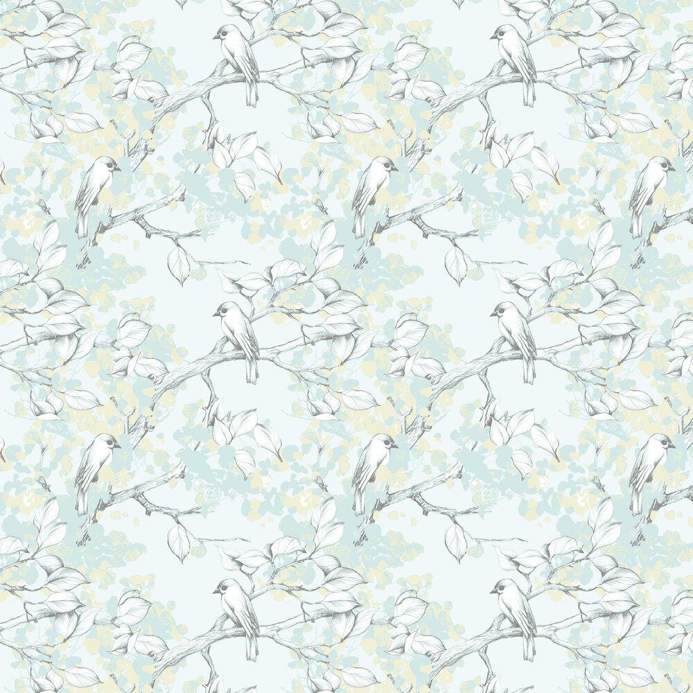 Peipponen Wallpaper - Duck Egg - by Vallila