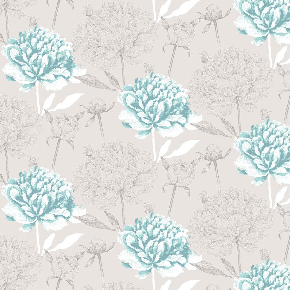 Vallila Vanha Suola Aqua Wallpaper - Product code: 5222-1