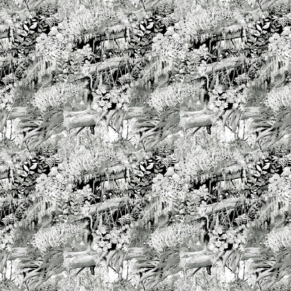 Vallila Trollskogen Grey Wallpaper - Product code: 5223-1