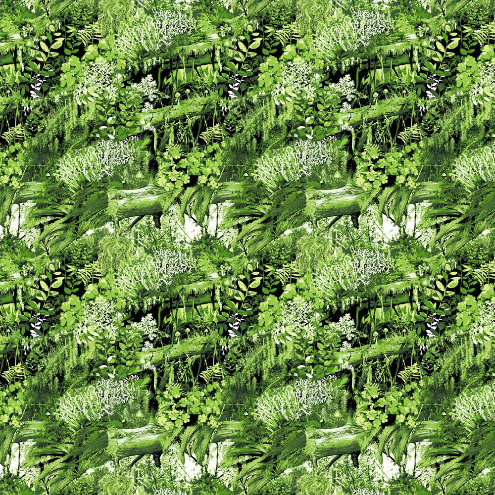 Vallila Trollskogen Green  Wallpaper - Product code: 5223-2