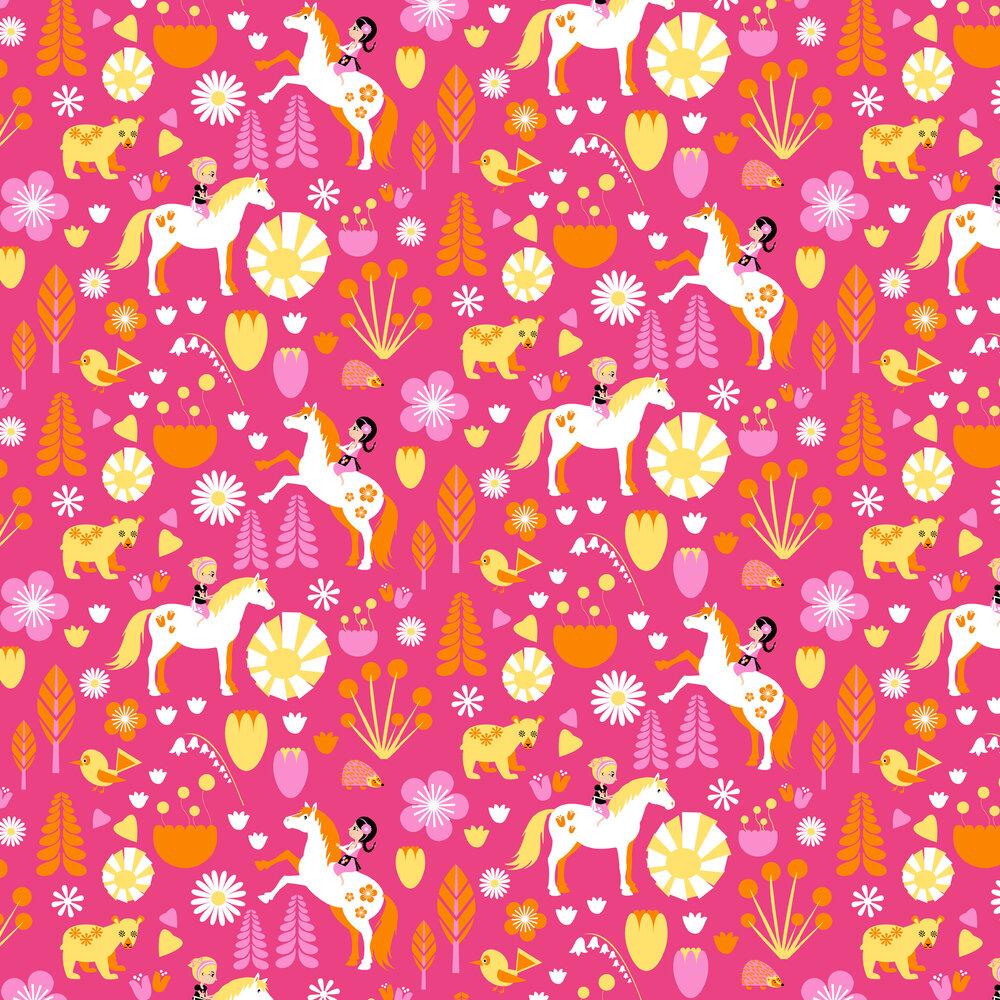Vallila Kevatlaulu Pink Wallpaper - Product code: 5224-1