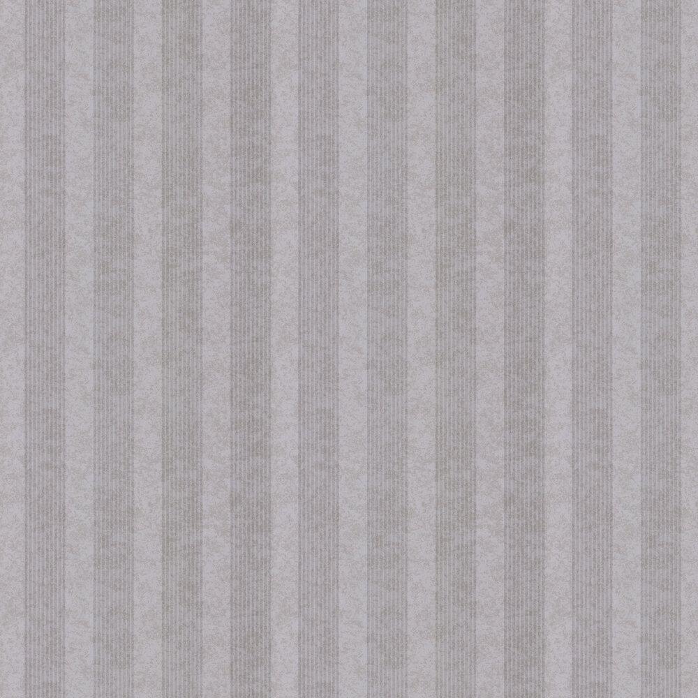 Empire Stripe Wallpaper - Silver - by Kandola