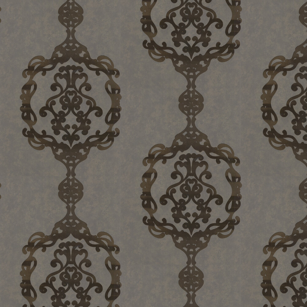 Sovereign Wallpaper - Antique Brass - by Kandola