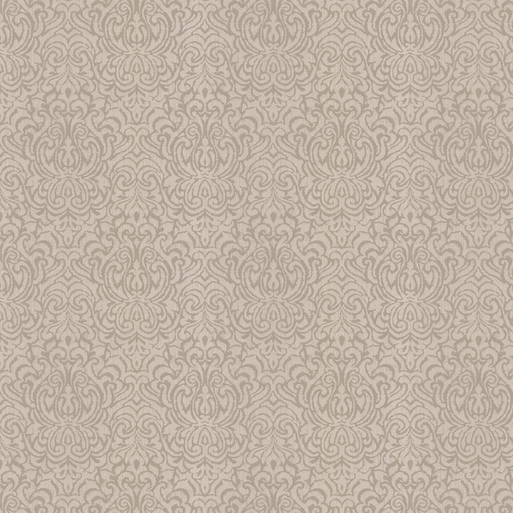 Downton Damask Wallpaper - Taupe - by Architects Paper