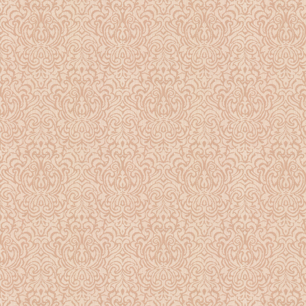 Downton Damask Wallpaper - Light Terracotta - by Architects Paper