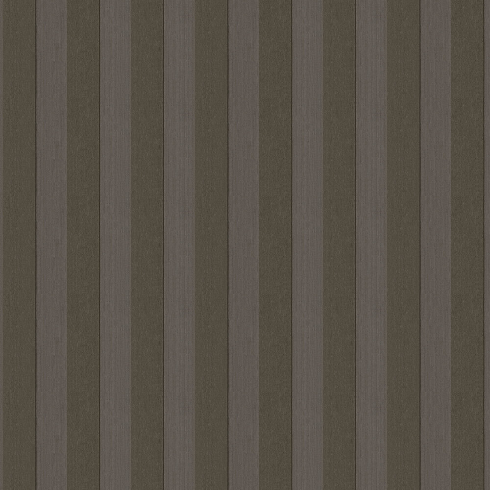 Silk Stripe Wallpaper - Chocolate Brown - by Architects Paper