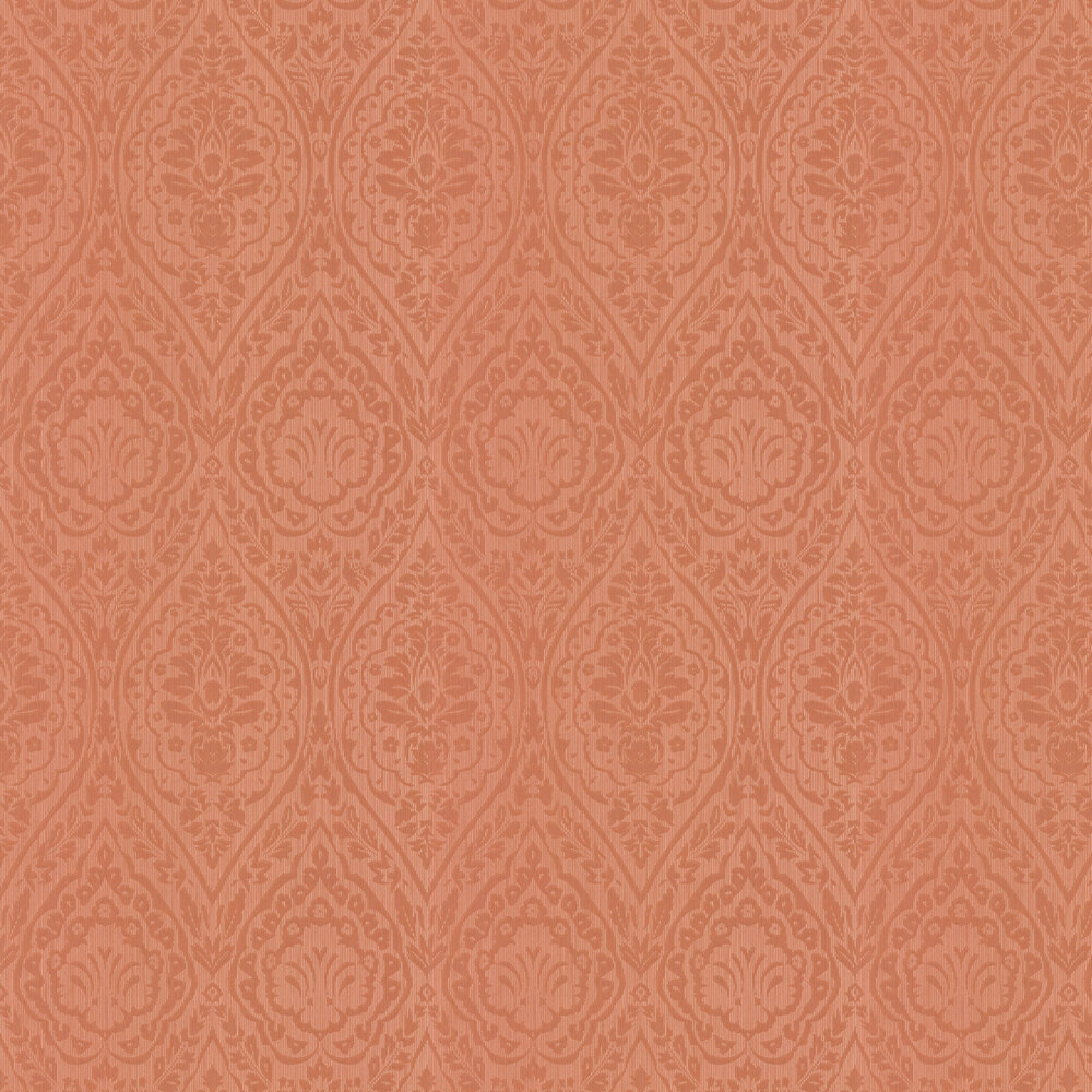 Westminster Damask Wallpaper - Orange - by Architects Paper