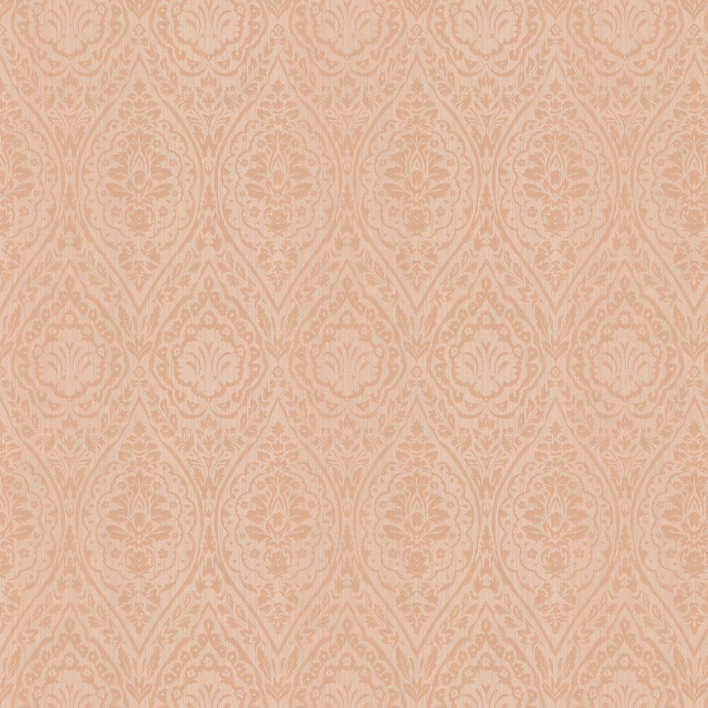 Westminster Damask Wallpaper - Light Terracotta - by Architects Paper