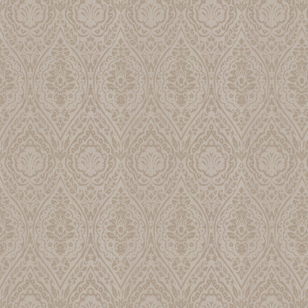 Westminster Damask Wallpaper - Taupe - by Architects Paper