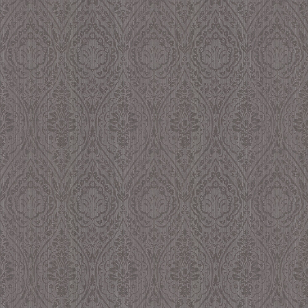 Westminster Damask Wallpaper - Chocolate Brown - by Architects Paper
