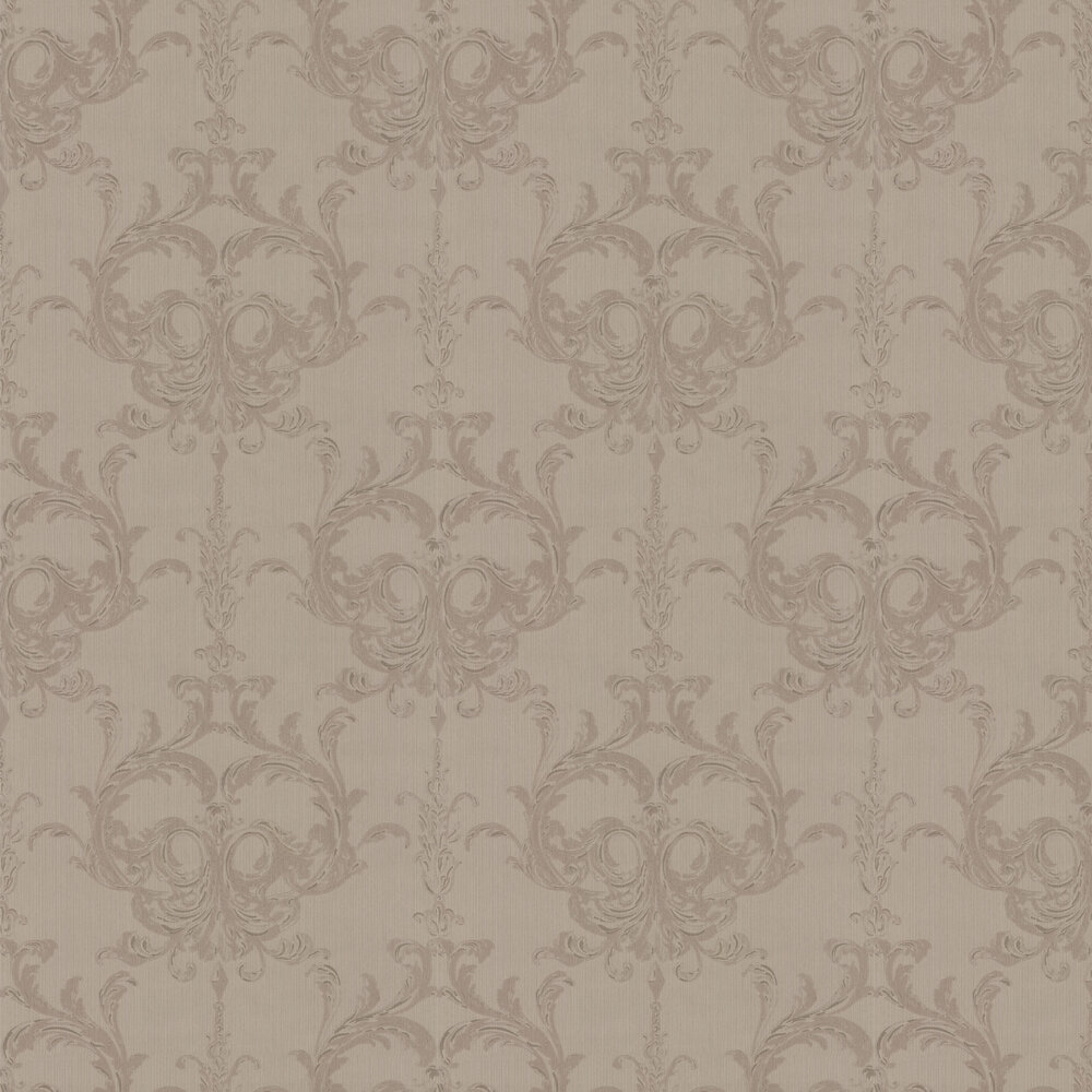 Blenheim Damask Wallpaper - Taupe - by Architects Paper