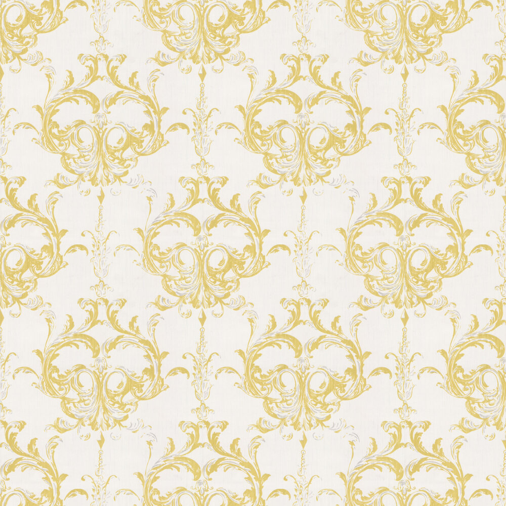 Blenheim Damask Wallpaper - Chartreuse - by Architects Paper