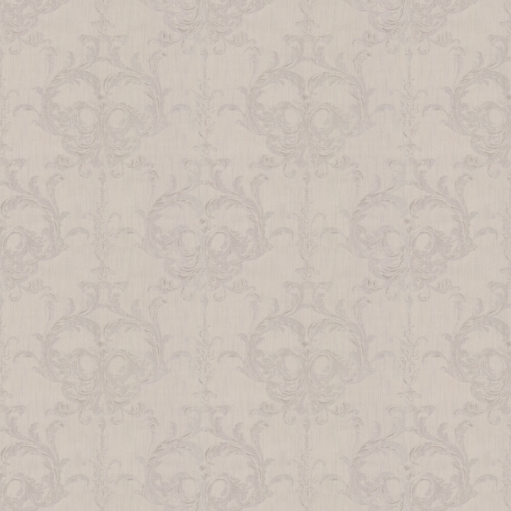 Blenheim Damask Wallpaper - Linen - by Architects Paper