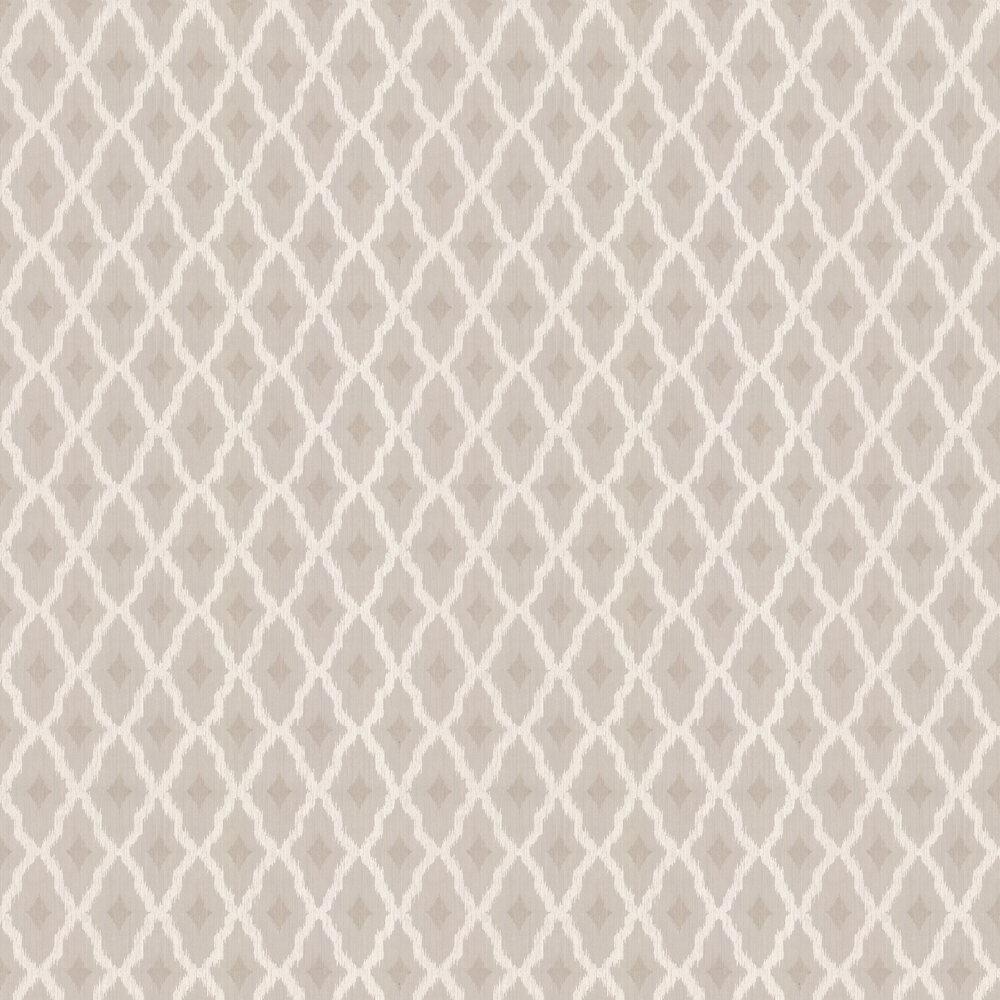 Windsor Diamond Wallpaper - Linen - by Architects Paper