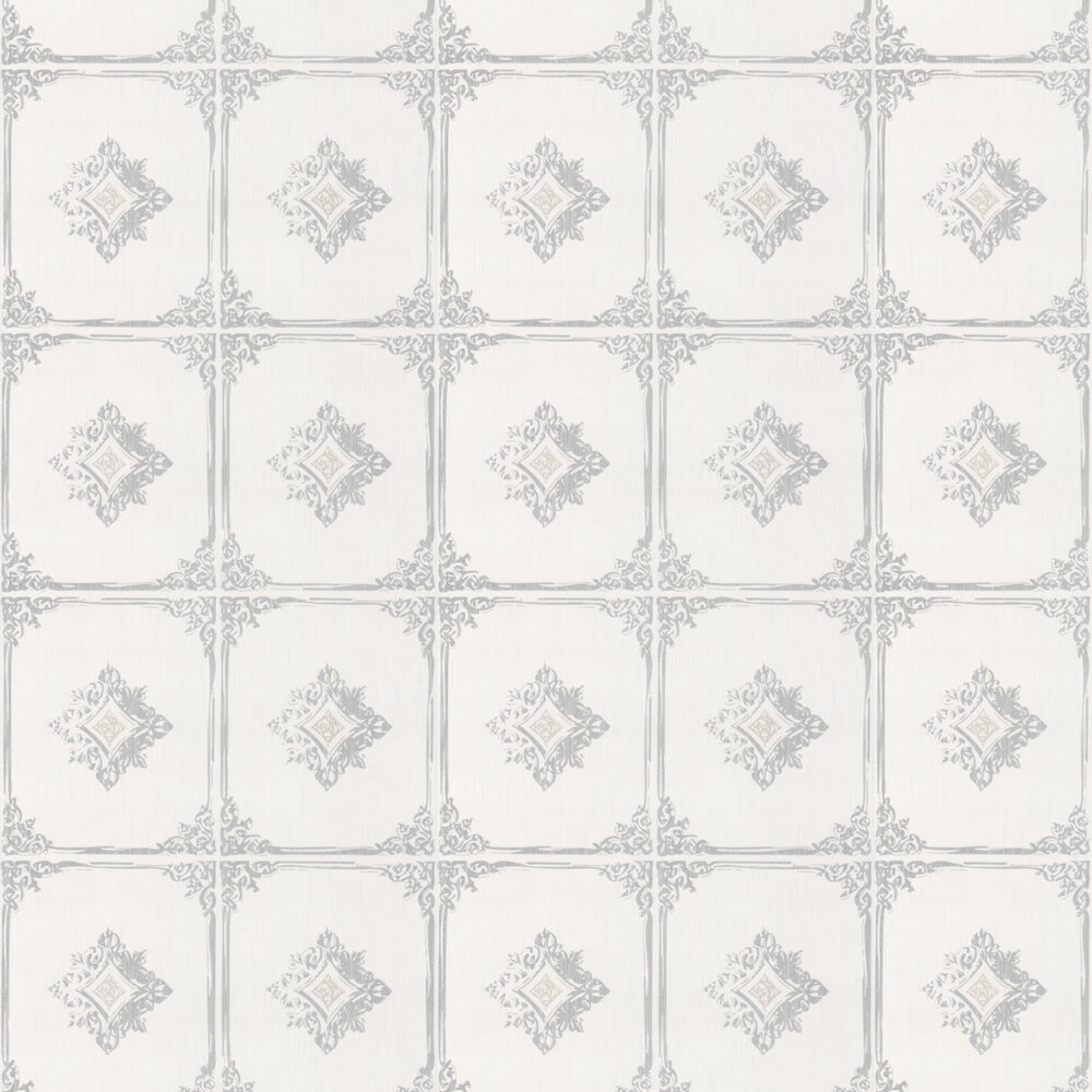 Chatsworth Wallpaper - Opal White - by Architects Paper