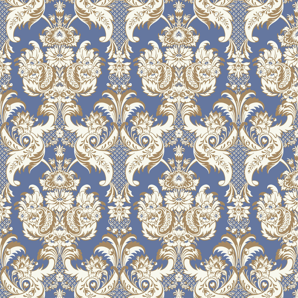 Cole & Son Wyndham Peacock Blue Wallpaper - Product code: 94/3016