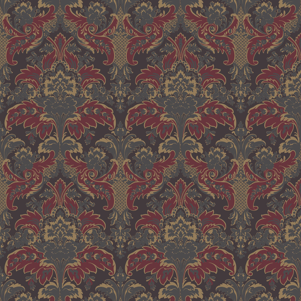 Cole & Son Aldwych Red / Gold Wallpaper - Product code: 94/5029