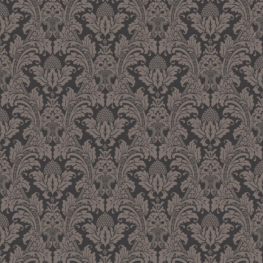 Cole & Son Blake Black / Graphite Wallpaper - Product code: 94/6032