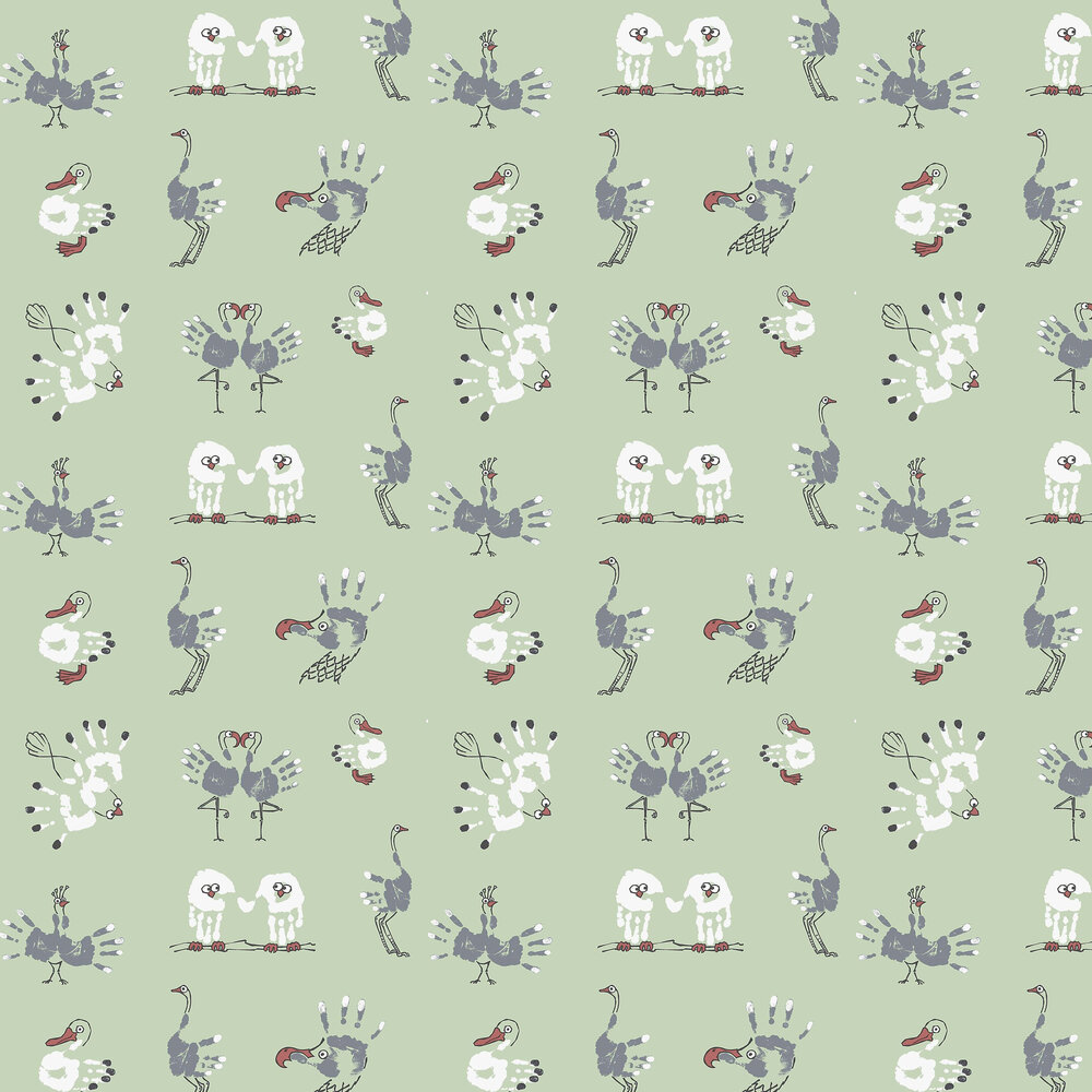 Albany Watch The Birdie Peppermint Wallpaper - Product code: KC2007