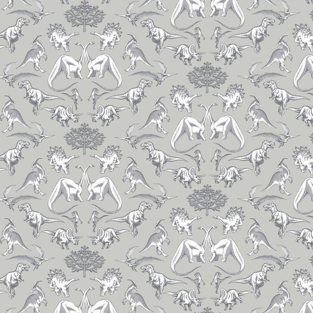 Albany Dotty Dinosaurs Grey Wallpaper - Product code: KC2008
