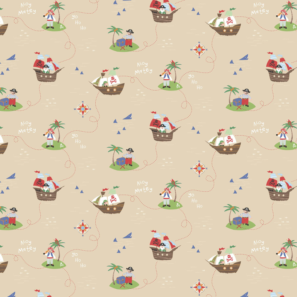 Albany Funny Pirates Sand Wallpaper - Product code: SZ002102