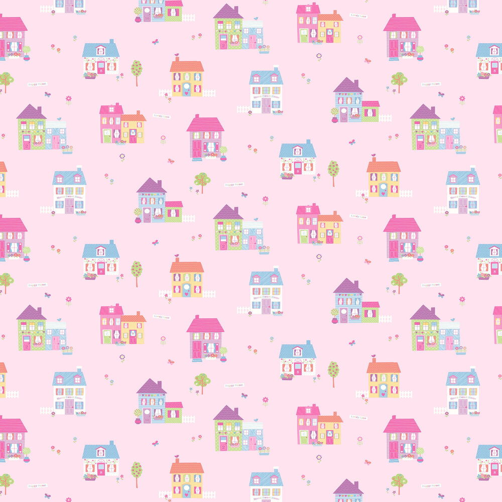 Albany Happy Street Pink Wallpaper - Product code: SZ002133