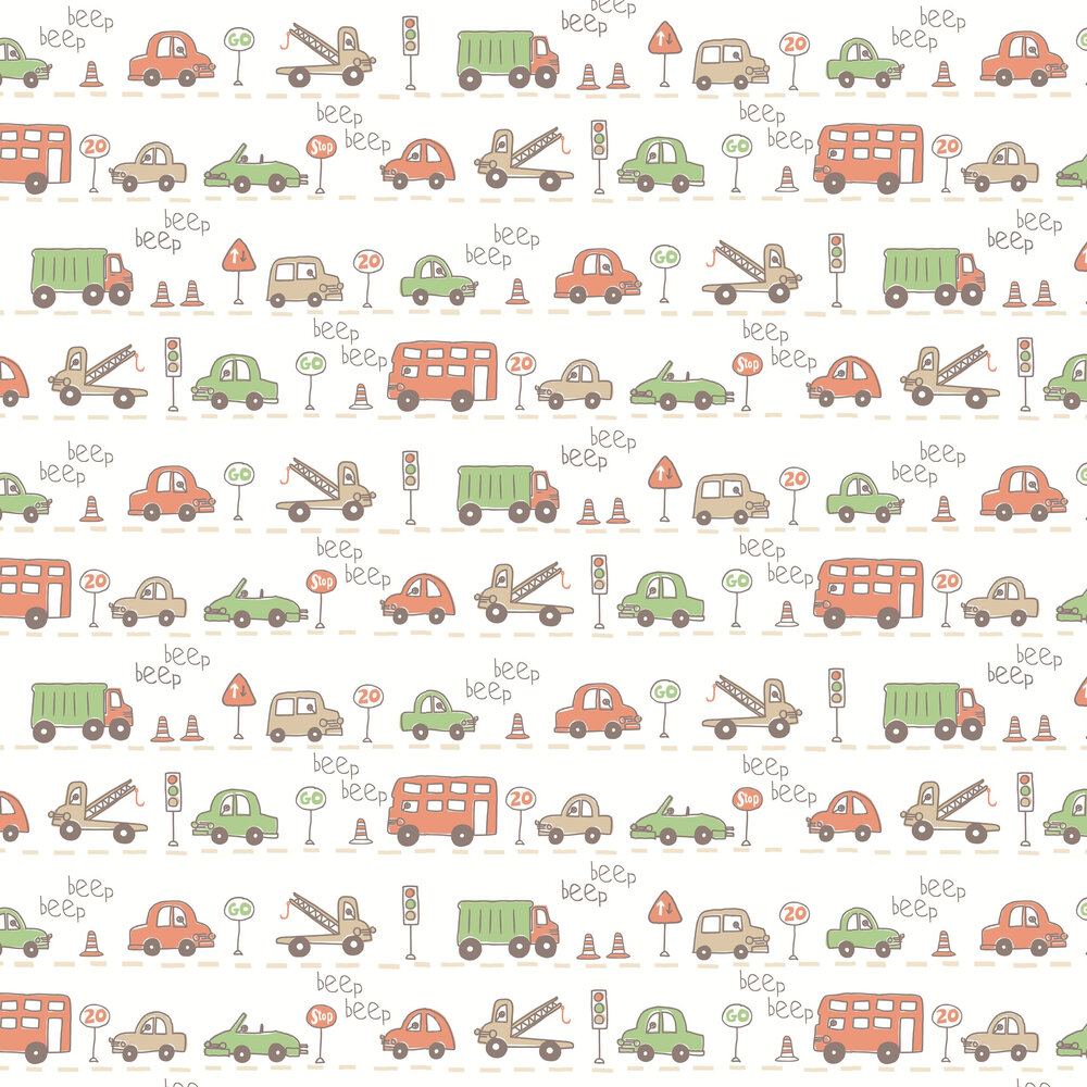 Albany Beep Beep Orange  Wallpaper - Product code: SZ002141