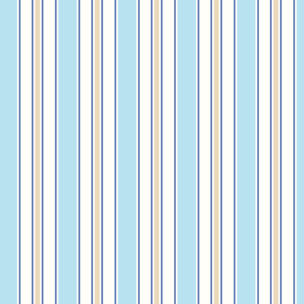 Albany Wide Stripe Powder Blue and White Wallpaper - Product code: SZ002147