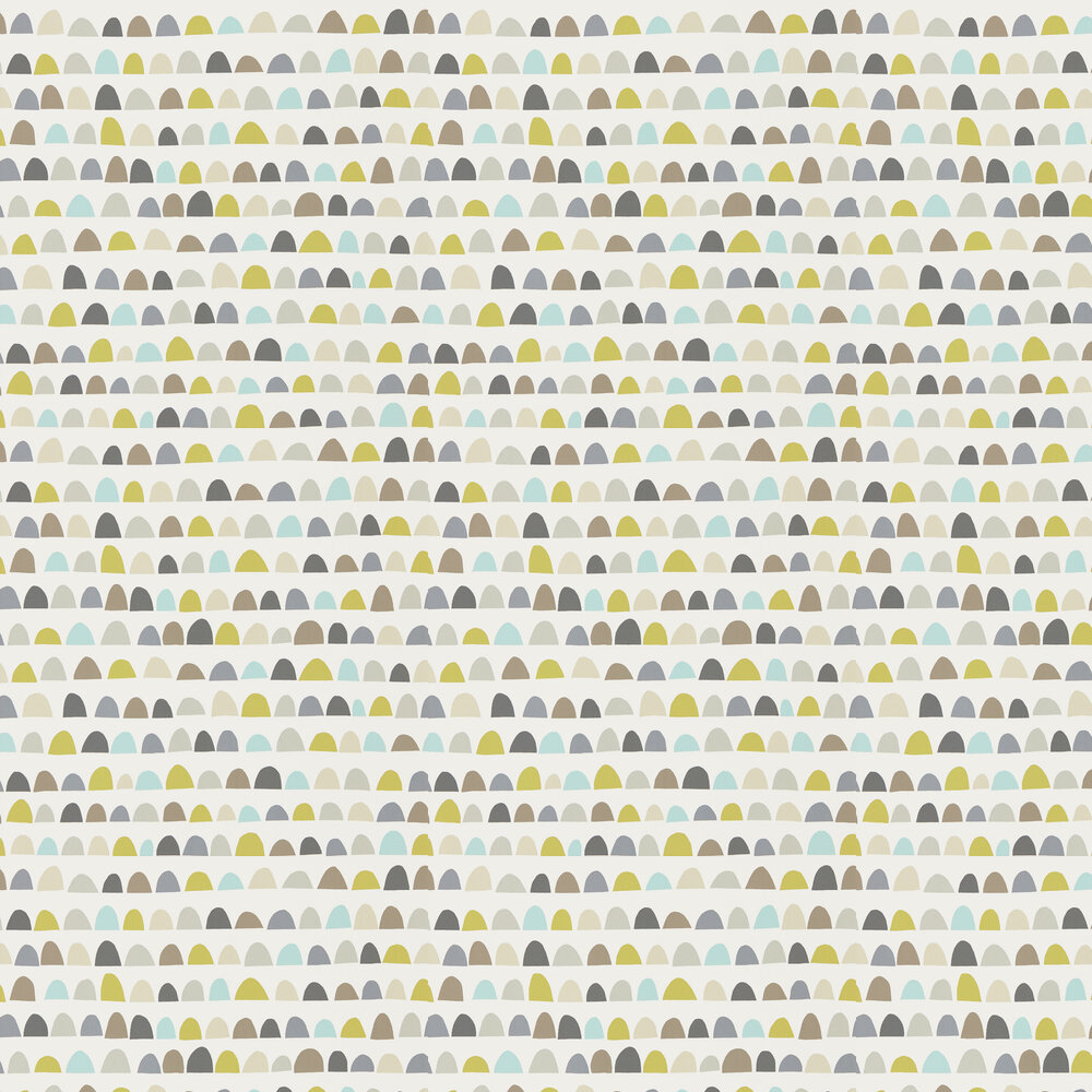 Scion Priya Mist, Pear and Pewter Wallpaper - Product code: 111296