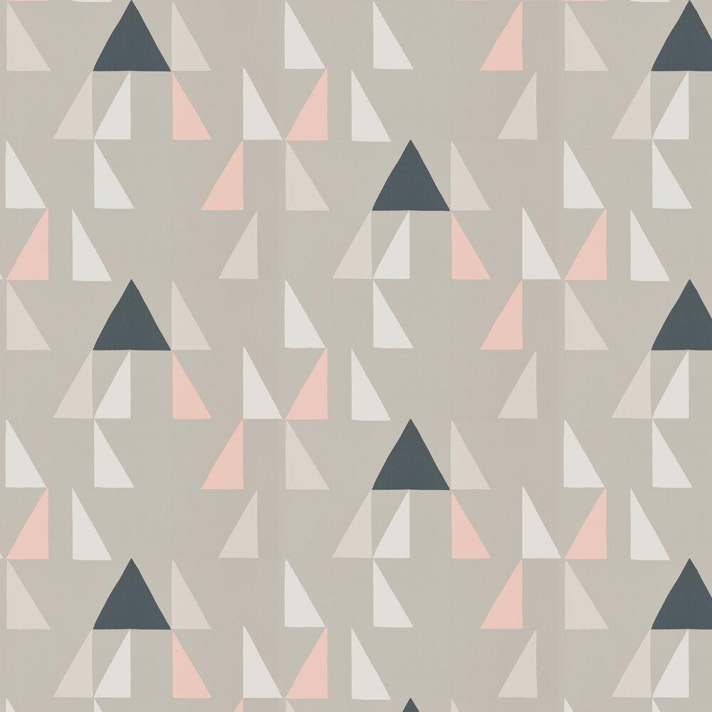 Modul Wallpaper - Blush, Parchment and Dove  - by Scion