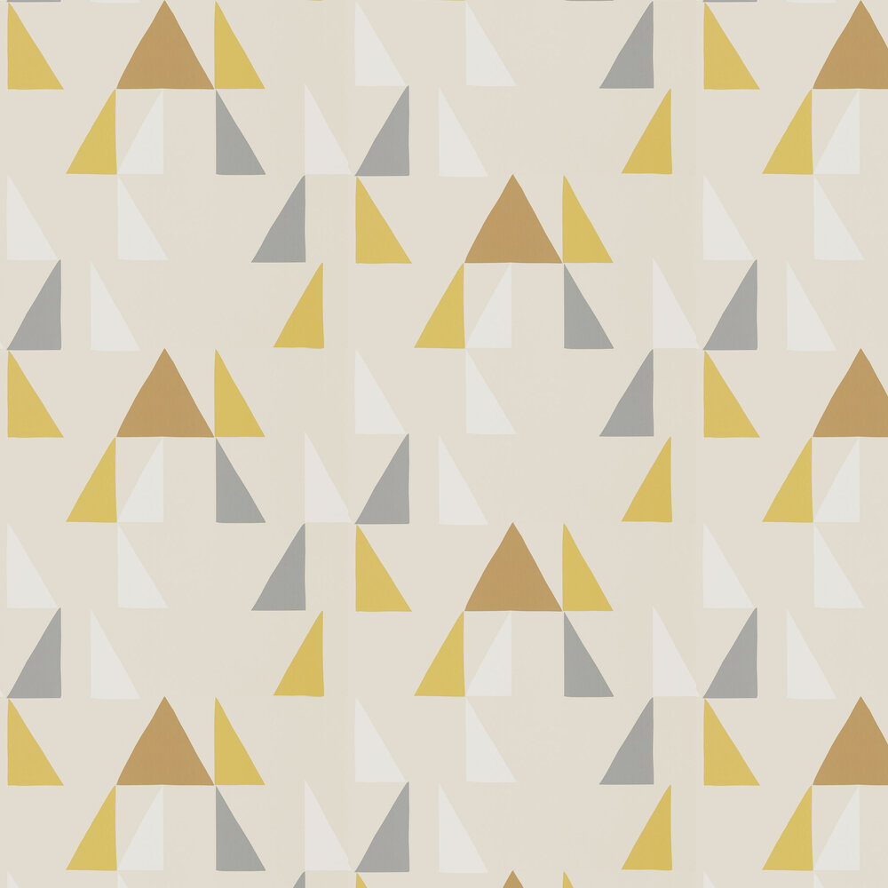 Modul Wallpaper - Mustard, Pewter and Cinnamon - by Scion