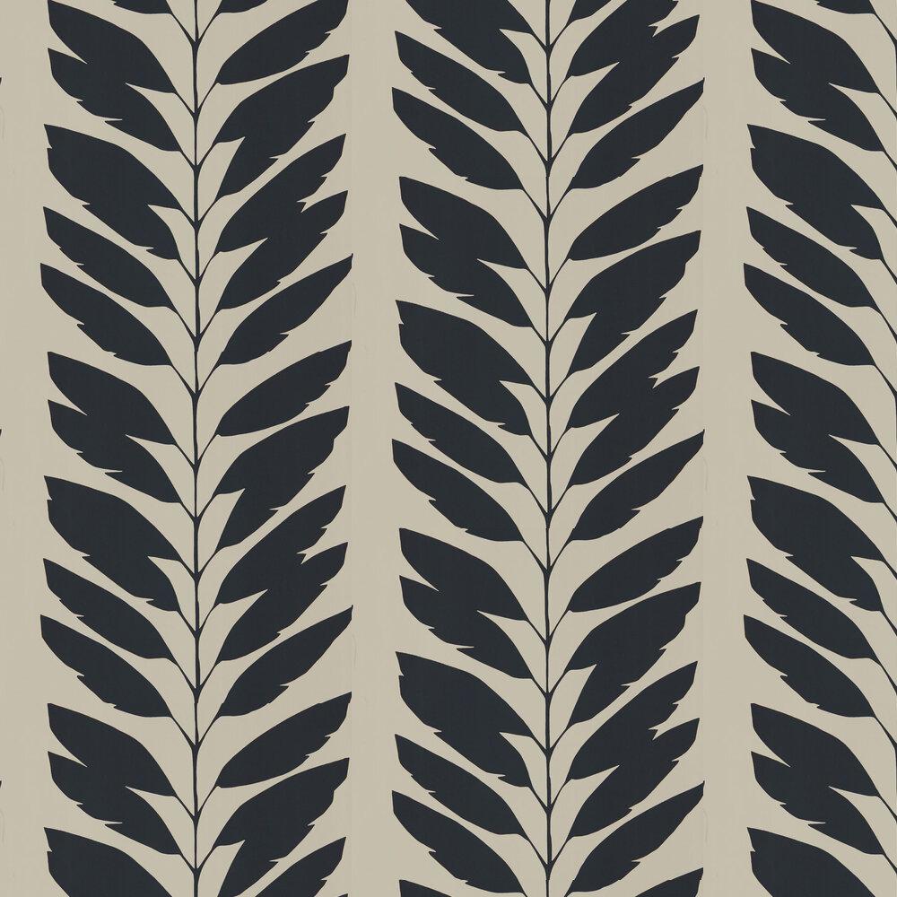 Malva  Wallpaper - Liquorice - by Scion